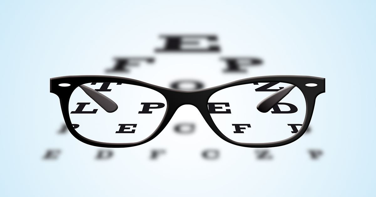 eye chart and information regarding vision testing for the the DOT exam